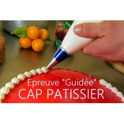 """Épreuve """"guidée"""" CAP Blanc Pâtissier 2016"""