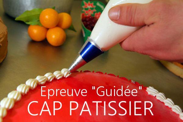 """Épreuve """"guidée"""" CAP Blanc Pâtissier 2018"""