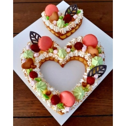 illustration gâteau heart cake