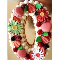 Number cake vanille/framboises